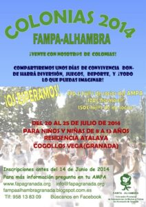 CARTEL colonias 2014