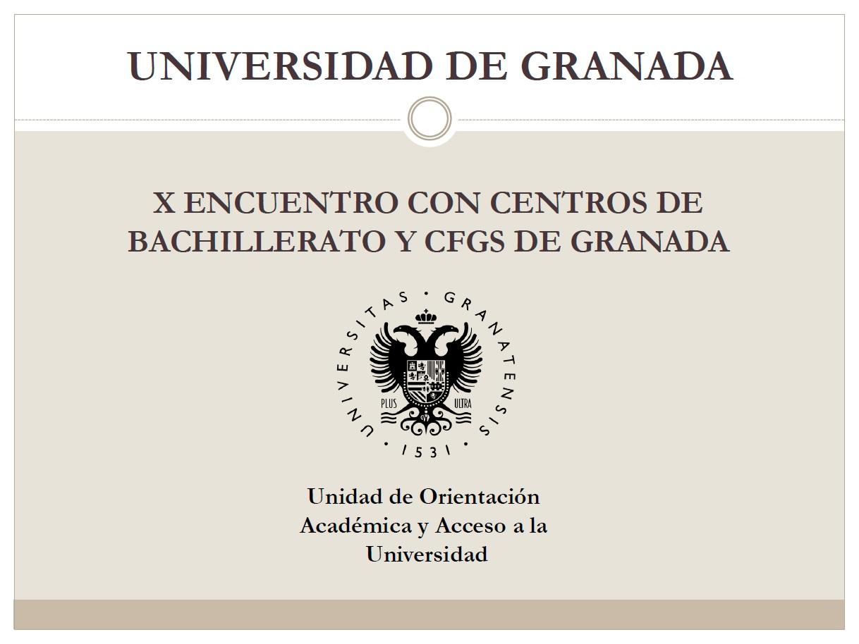 Información sobre las prueba de bachillerato a la universidad de Granada